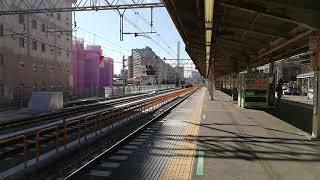 JR埼京線・板橋駅 試運転列車が留置線に入線