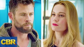 What You Didn't Realize About Thor And Captain Marvel In The Avengers Endgame Trailer