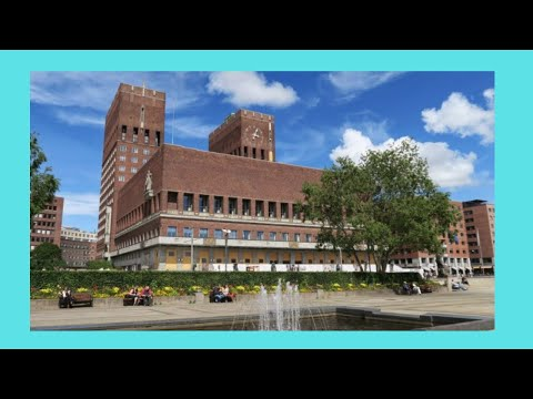EXPLORING OSLO'S beautiful CITY HALL, an inside tour, (rådhus), Norway