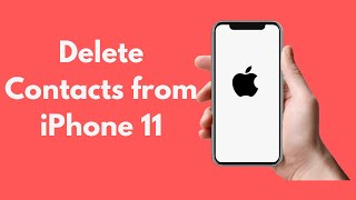 How to delete all contacts on iphone without computer.