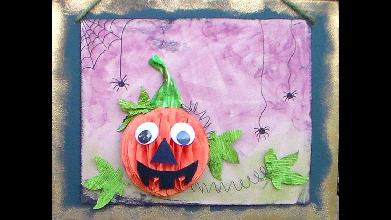 kids pumpkin craft for fall or halloween - Halloween Youtube Kids
