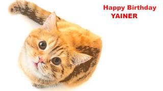 Yainer   Cats Gatos - Happy Birthday