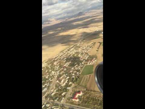 Azerbaijan Airlines take off from Nakhchivan