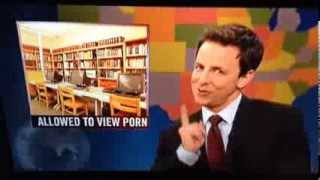 2013-11-16 = SNL mocks Orland Park Public Library's porn policy