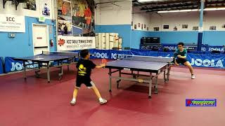 Ma Xiang (1735) vs Michael (1720) at ICC Table Tennis League on 6-15-2019