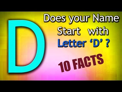 10 Facts about the People whose name starts with Letter 'D'   Personality Traits
