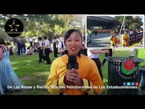 Desfile de Las Rosas Entrevista a Kyoto Tashibana High School de Japon