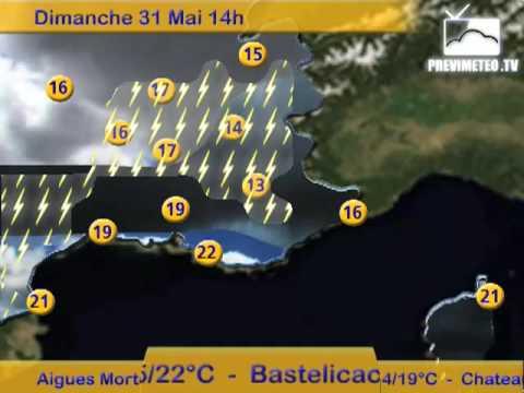 Bulletin Previmeteo.TV pour le SudEst