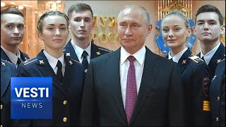 Putin and the Police: New Cadets and Old Veterans Addressed by the Russian President
