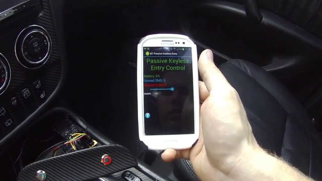 Mercuino Project - Passive Bluetooth Keyless Entry System Demo - YouTube
