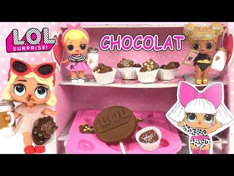 Poupées LOL Surprise Crée tes chocolats Make your own chocolate