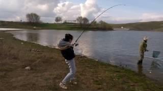 Жена рыбака) Рыбалка в г.Талдыкорган, озеро Ащибулак
