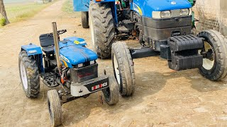 HOW TO MAKE MINI TRACTOR at home with engine In Punjab