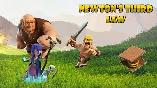How Newton's Third Law Directly Relates to Clash of Clans! | How To Remember Newton's Third Law