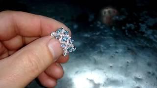 видео Кольцо с топазом из белого золота