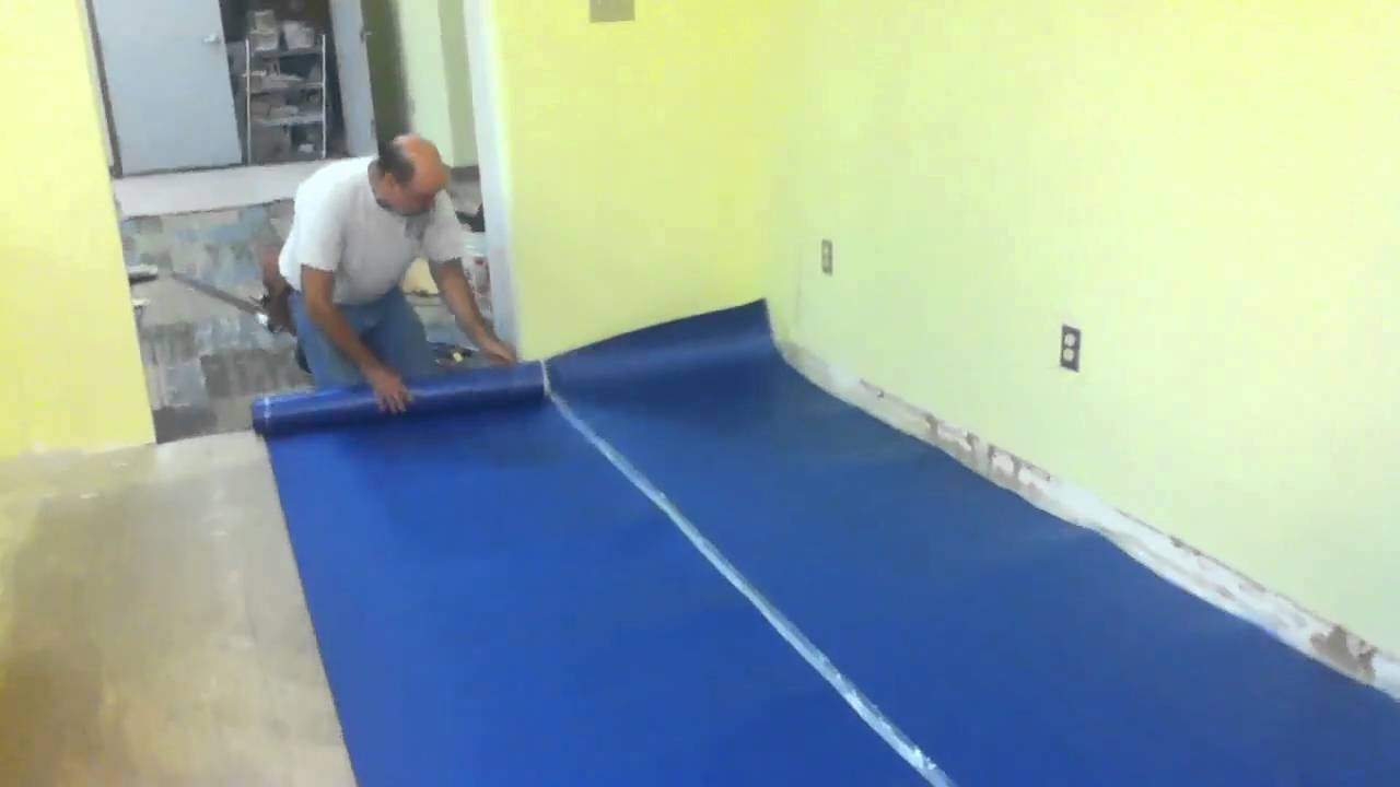 Laying Out Underlayment Youtube