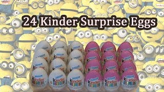 Surprise Eggs - 24 Kinder Surprise Eggs for Boys & Girls