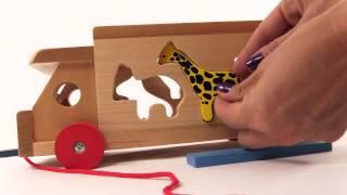 мультфильм про машинки для малышей - игрушечный грузовичок и животные - развивающие игрушки