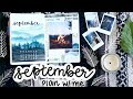 PLAN WITH ME | September 2017 Bullet Journal + August Flip Through