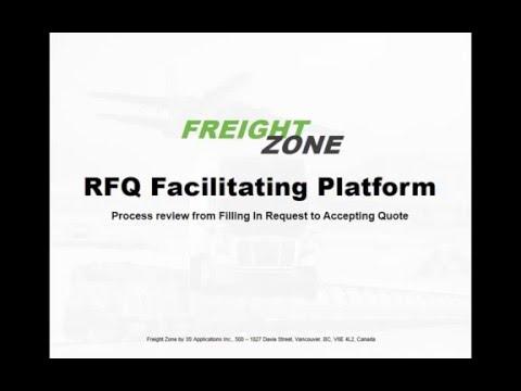 Optimized logistics RFQ process in just 3 steps