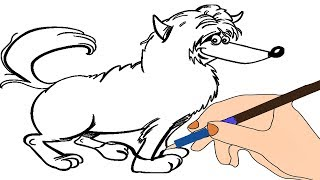 ▶▶▶ Drawing Yorkie Dog | How to Draw Yorkie Dog | Animals Coloring Page | ColorKidsLearning