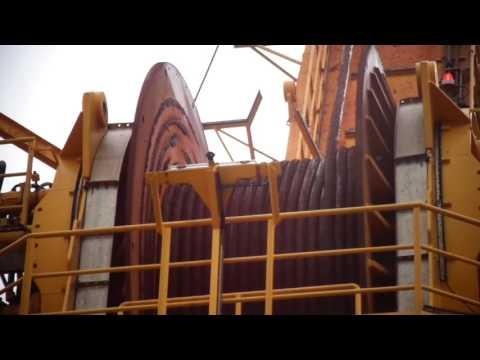 Operação do Guincho e Guindaste Offshore Subsea
