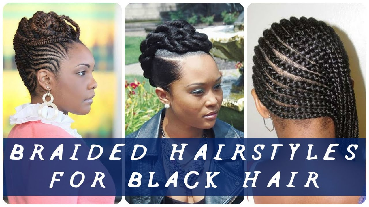 35 Best braided hairstyles for black hair - YouTube