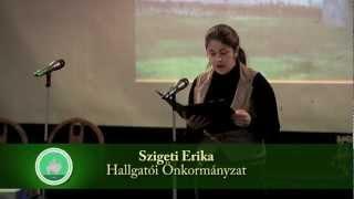 DE AGTC MÉK felvételi tájékoztatója 8. rész hallgatói önkormányzat Thumbnail