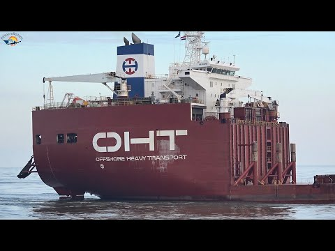 "HEAVY LIFT VESSEL ""ALBATROSS"" arrives at ROTTERDAM Port - Shipspotting ROTTERDAM March 2021"