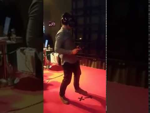 Playing VR at Slush Shanghai 2016