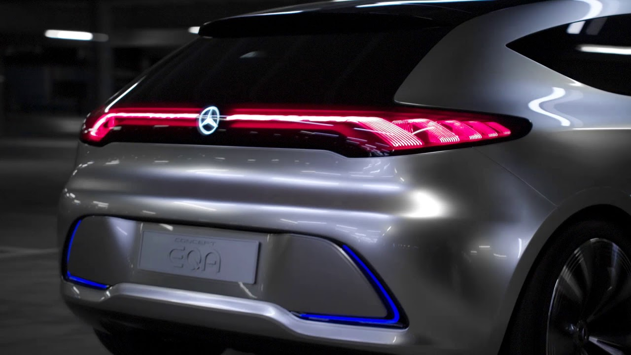 Mercedes-Benz Concept EQA Headlights & Tail Lights - YouTube