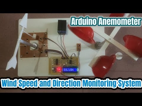 Wind Speed & Direction Monitoring System Using Arduino | How To Make An Anemometer