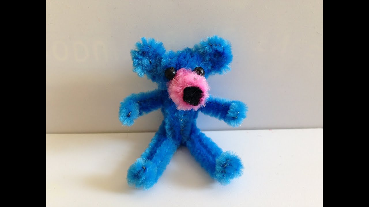 how to make a pipe cleaner teddy bear youtube