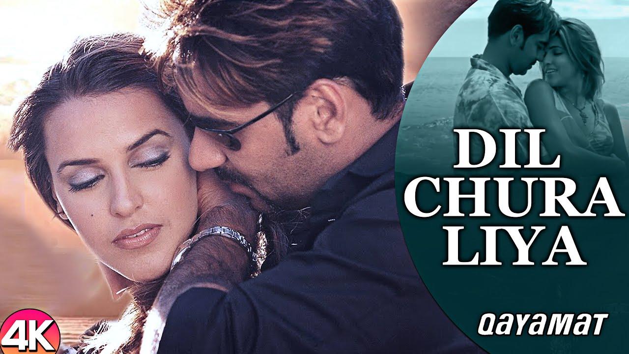 Download Dil Chura Liya - 4K Video   Ajay Devgan & Neha Dhupia   Qayamat   90's Bollywood Romantic Songs