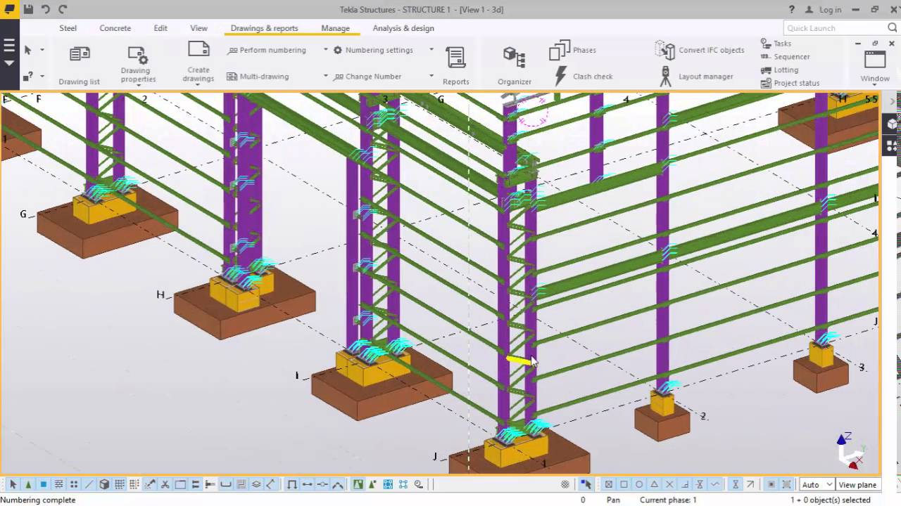 Numbering and Report Creation in TEKLA STRUCTURES 2016