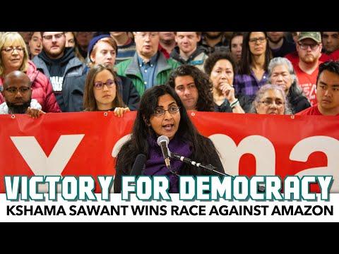 Kshama Sawant Wins Race Despite Amazon's $1.5M Against Her