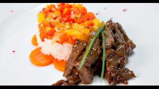 Говядина — рис — соевый соус   Если ужин быстро нужен