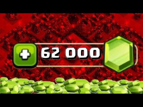 CLASH OF CLANS 62,000 GEMS SUPER GEMMING PART 1! MAX TOWN HALL 10
