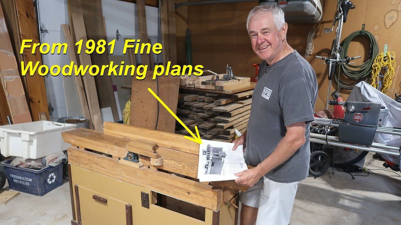 """Reg's wooden 8"""" jointer, from 1981 fine woodworking plans"""