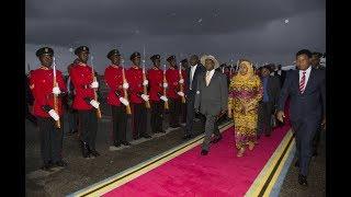 Mapokezi ya Rais Museveni wa Uganda Jijini Tanga