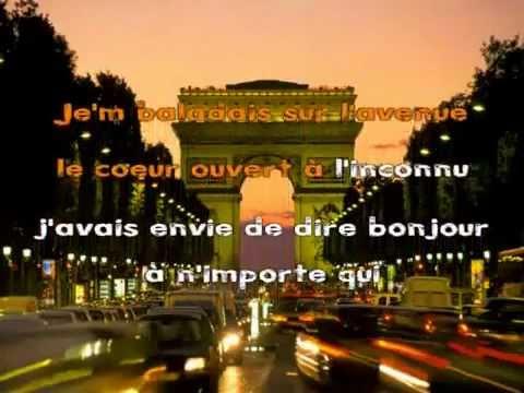 Les Champs Elysées-Joe Dassin - Karaoké Chanté.flv