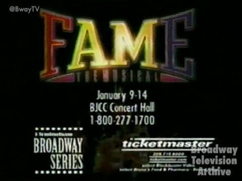 FAME: THE MUSICAL - National Tour Commercial