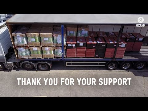 Oxfam aid leaving Bicester warehouse to Nigeria