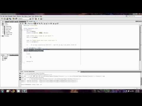 BeginnersCPP.com- Episode 5: Simple if conditional, if else structure, variable output