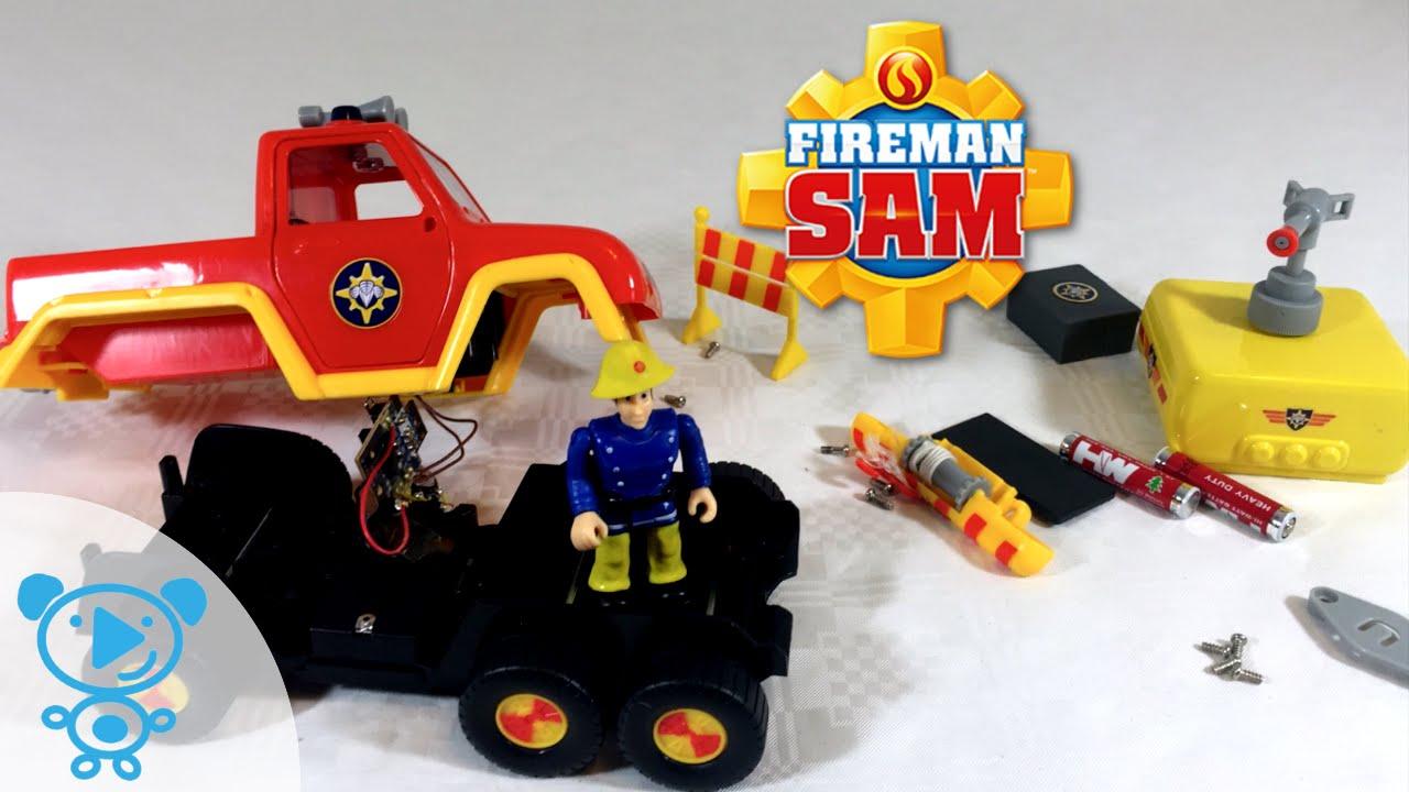 Best Fireman Sam Toys Kids : Fireman sam fire truck venus toys teardown feuerwehrmann