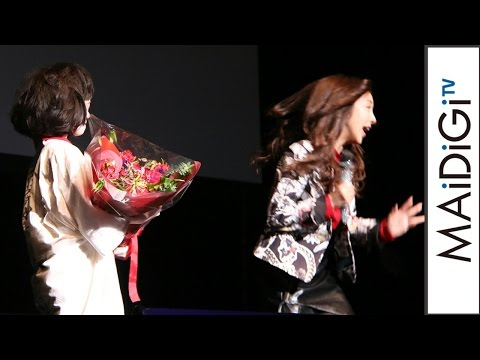 板野友美、ホラーメークにびっくり壇上から逃走! ホラー映画「のぞきめ」イベント #Tomomi Itano #event