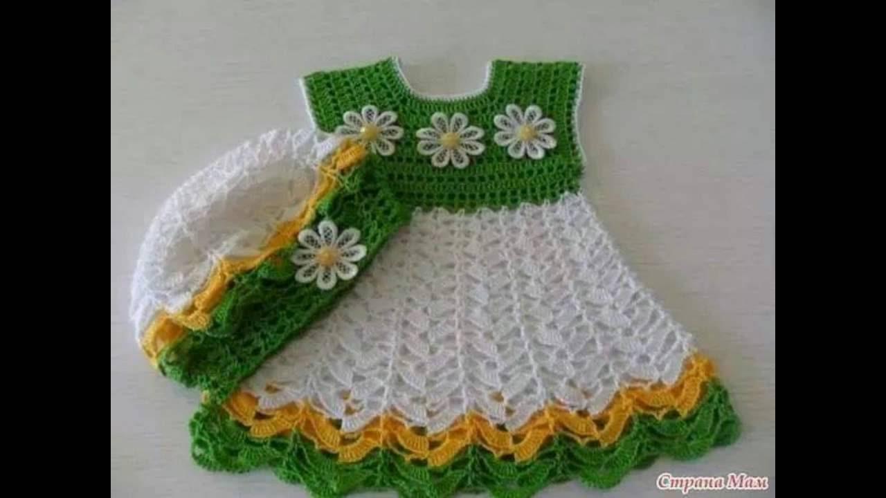 teje vestidos lindos a crochet para bebes y ni as n 05 youtube. Black Bedroom Furniture Sets. Home Design Ideas