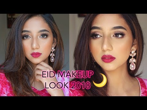 SIMPLE PINK EID MAKEUP LOOK 2018