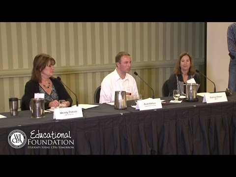 WICPA High School Educators Accounting Symposium - College Educator Panel - Nov. 11, 2016