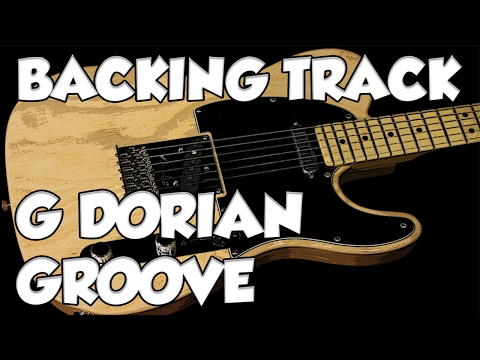 Bluesy Dorian Groove Guitar Backing Track in gm